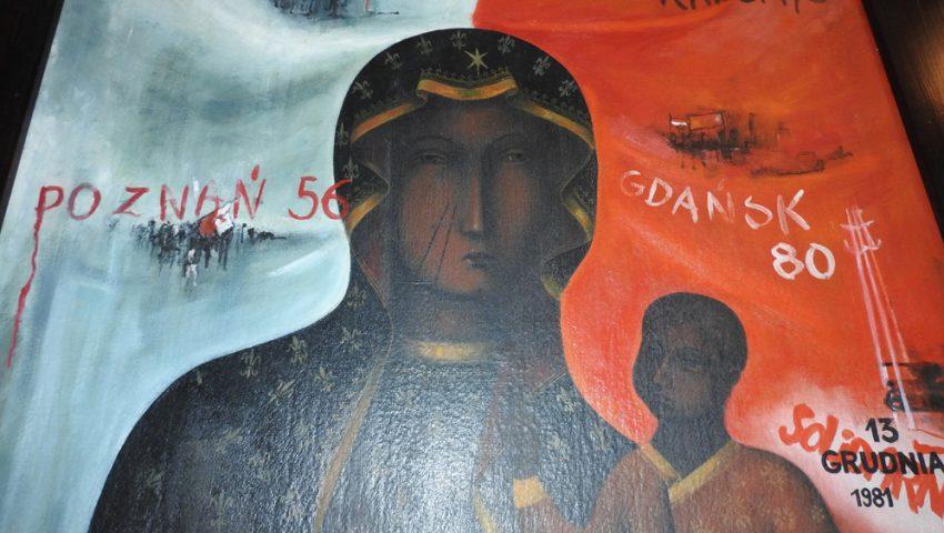 Znalezione obrazy dla zapytania obraz matki Bożej robotników solidarności